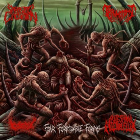 "Parasitic Ejaculation/Gorepot/Intestinal Alien Reflux/Traumatomy ""Four Formidable Forms"""